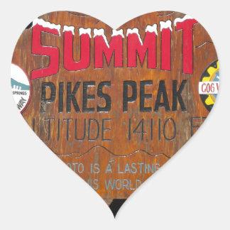 パイクのピーク頂上、コロラド州 ハートシール