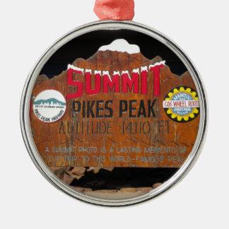 パイクのピーク頂上、コロラド州 メタルオーナメント