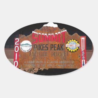 パイクのピーク頂上、コロラド州 楕円形シール