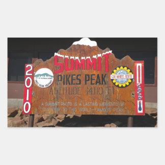 パイクのピーク頂上、コロラド州 長方形シール