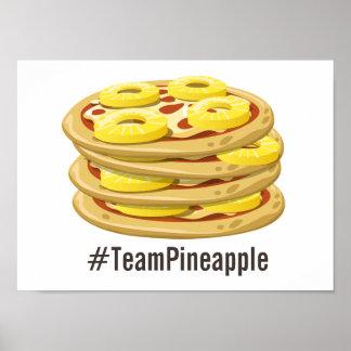 パイナップルはピザポスターで属します ポスター