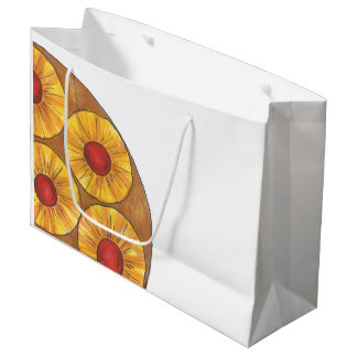 パイナップルアップサイドダウンケーキのさくらんぼのグルメのギフトバッグ ラージペーパーバッグ