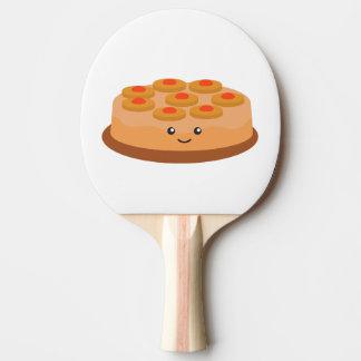 パイナップルアップサイドダウンケーキ 卓球ラケット
