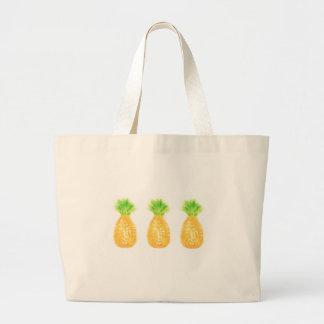 パイナップルジャンボトートバック ラージトートバッグ