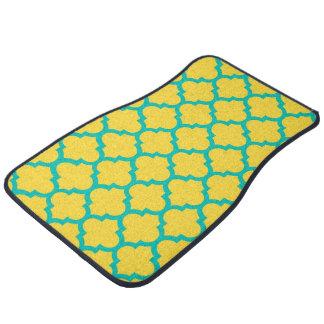パイナップルティール(緑がかった色)のモロッコのクローバーの格子垣#5 カーマット