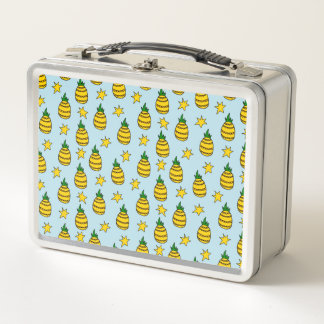 パイナップルデザイン-子供のお弁当箱 メタルランチボックス