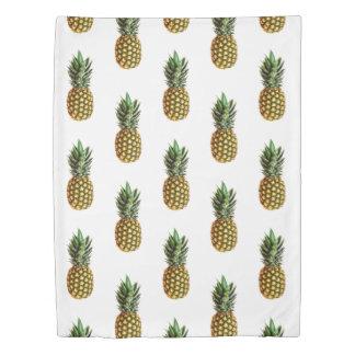 パイナップルパターンフルーツのイメージの双生児の羽毛布団カバー 掛け布団カバー