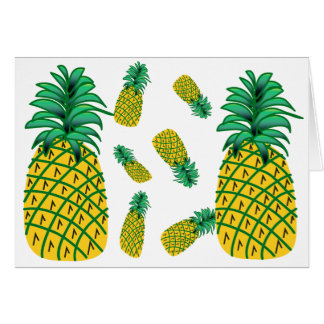 パイナップルパターン挨拶状 カード