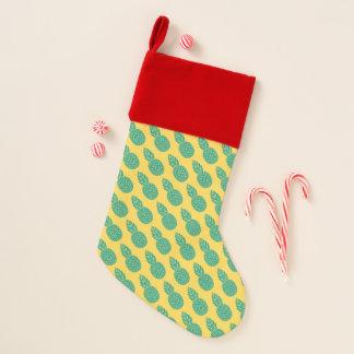 パイナップルパターン|はあなたのイニシャルを加えます クリスマスストッキング