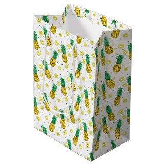 パイナップルパターン ミディアムペーパーバッグ