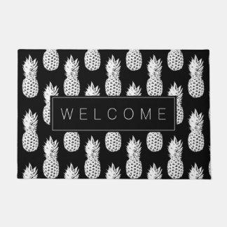 パイナップルフルーツパターンカスタムの歓迎のドア・マット ドアマット