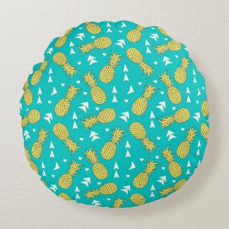 パイナップルフルーツパターン円形の装飾用クッション ラウンドクッション