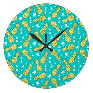 パイナップルフルーツパターン柱時計 ラージ壁時計