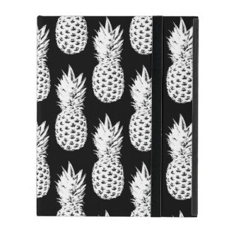 パイナップルフルーツパターンIpad白黒カバー iPad ケース