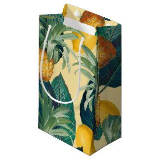 パイナップルレモン黄色 スモールペーパーバッグ