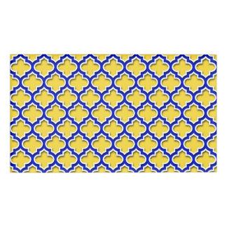 パイナップルロイヤルブルーの白いモロッコのクローバー#5DS 名札