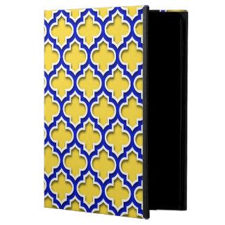 パイナップルロイヤルブルーの白いモロッコのクローバー#5DS iPad AIRケース