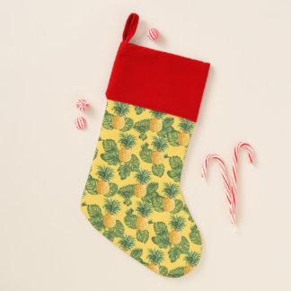 パイナップル及び熱帯葉 クリスマスストッキング