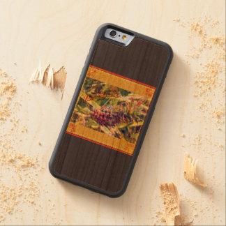 パイナップル楽園の木のiPhoneの場合 CarvedチェリーiPhone 6バンパーケース