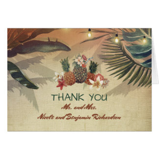 パイナップル熱帯やしは素朴なビーチをつけます カード