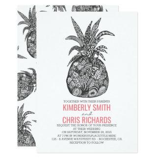 パイナップル熱帯ビーチ結婚式 カード