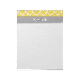 パイナップル白いモトッコ人#5 Dkの灰色の一流のモノグラム ノートパッド