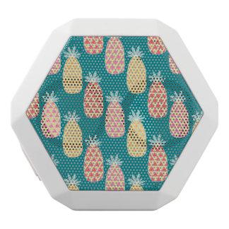 パイナップル落書きパターン ホワイトBluetoothスピーカー