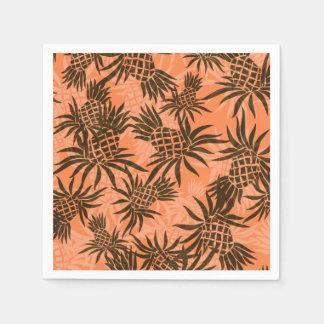 パイナップル迷彩柄のハワイの熱帯 スタンダードカクテルナプキン