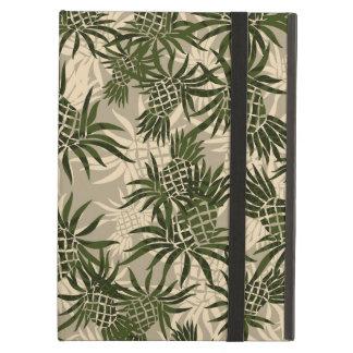 パイナップル迷彩柄のハワイアンのPowisのiCaseのiPadの場合 iPad Airケース