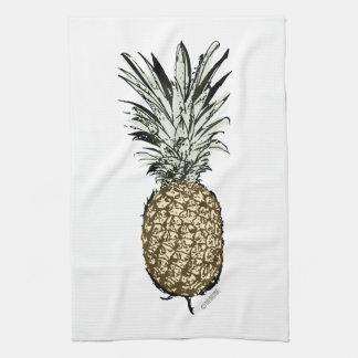 パイナップル運のインクかペンキ キッチンタオル