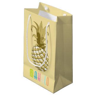 パイナップル金ゴールドMahalo ID239 スモールペーパーバッグ