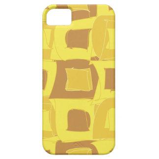 パイナップル黄色いフルーツの抽象デザインパターン iPhone SE/5/5s ケース