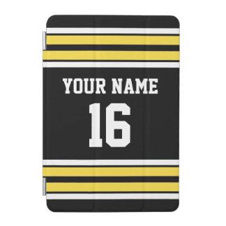 パイナップル黄色のチームジャージー黒い一流数 iPad MINIカバー