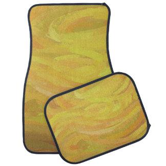 パイナップル黄色の渦巻 カーマット