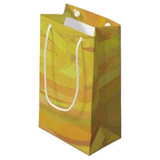 パイナップル黄色の渦巻 スモールペーパーバッグ