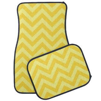 パイナップル、Lt Yellow Largeシェブロンのジグザグパターン カーマット