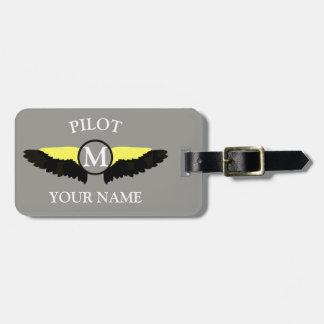 パイロットまたは飛行機の小屋の乗組員 ラゲッジタグ