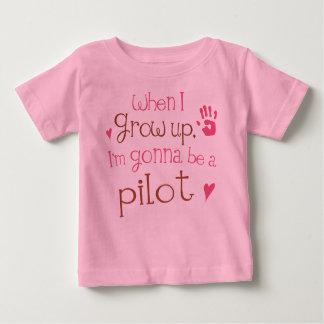 パイロット(未来)の幼児ベビーのTシャツ ベビーTシャツ