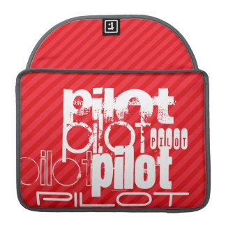 パイロット; 深紅の赤のストライプ MacBook PROスリーブ