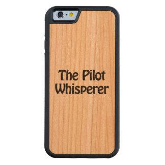 パイロットwhisperer.ai CarvedチェリーiPhone 6バンパーケース