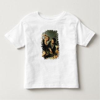 パイ1670-75年を食べている子供 トドラーTシャツ