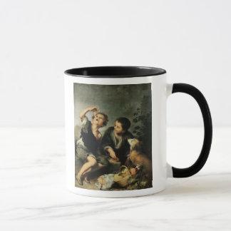 パイ1670-75年を食べている子供 マグカップ