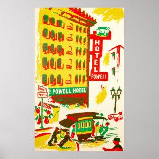 パウエルのホテルサンフランシスコ ポスター