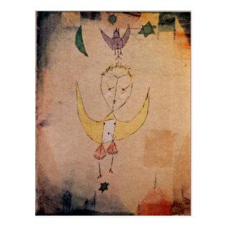 パウル・クレーのアートワーク、お告げの祈りDescendens ポストカード
