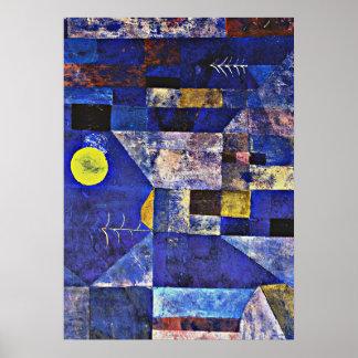 パウル・クレーのアートワーク、月光 ポスター