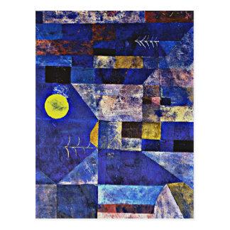 パウル・クレーのアートワーク、月光 ポストカード