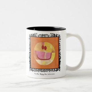 パウル・クレーの幸せな顔のマグ ツートーンマグカップ