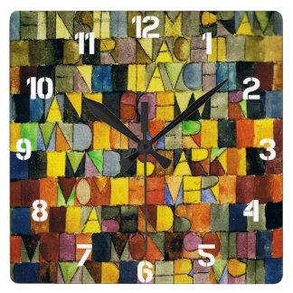パウル・クレーの時計 スクエア壁時計