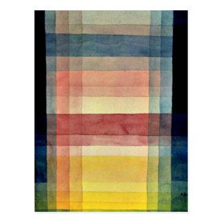 パウル・クレーの芸術: 平野の建築 ポストカード