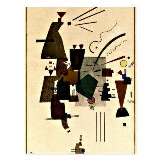 パウル・クレーの芸術: 暖められたカッコいい ポストカード